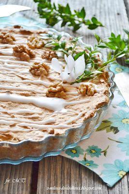 Była już wielkanocna babka teraz kolej na mazurka. Może nie jest to taki typowy mazurek, bo ciasto może również śmiało służyć za tartę. Tak ...