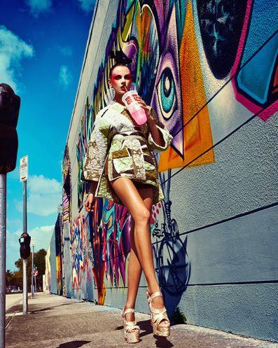 Karina Gubanova in 'Tokyo Pop' by Gabor Jurina for Fashion Canada