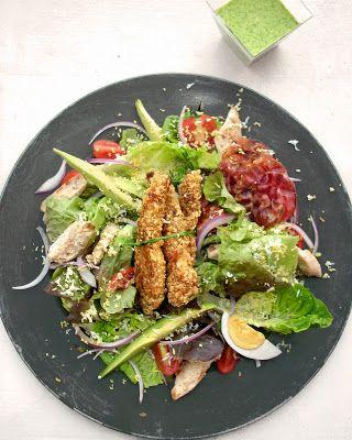 Ma salade cobb. Une recette de Salade Diablement Gourmande !. La recette par La Femme à Tête de Chou.