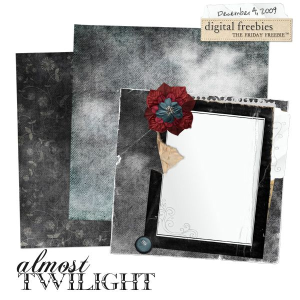 Almost Twilight - Digital Scrapbooking Freebie