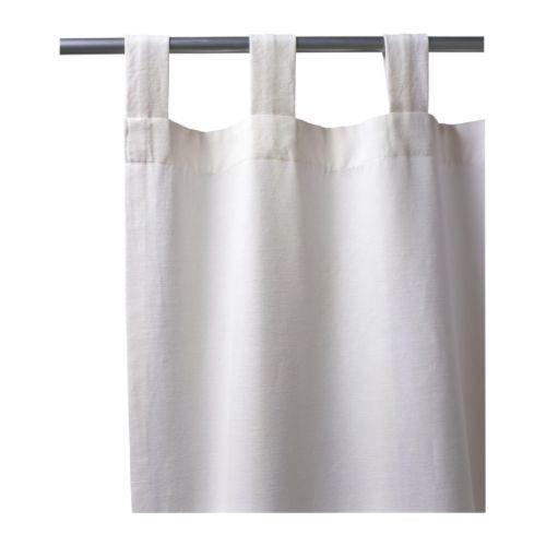 LENDA Zasłona z wiązaniem, 2 szt. - jasnobeżowy - IKEA
