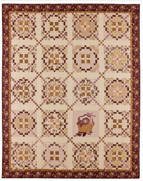 Burgoyne Surrounded:  quilt by Anne Sutton of Bunny Hill Designs.  Design by Lissa Alexander at Moda Lissa