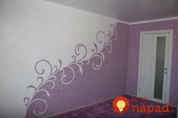 Počuli ste už o tekutej tapete? Toto riešenie je perfektné pre priestory, kde sa klasické tapety na steny nedajú nalepiť, napríklad kvôli nerovnému povrchu.