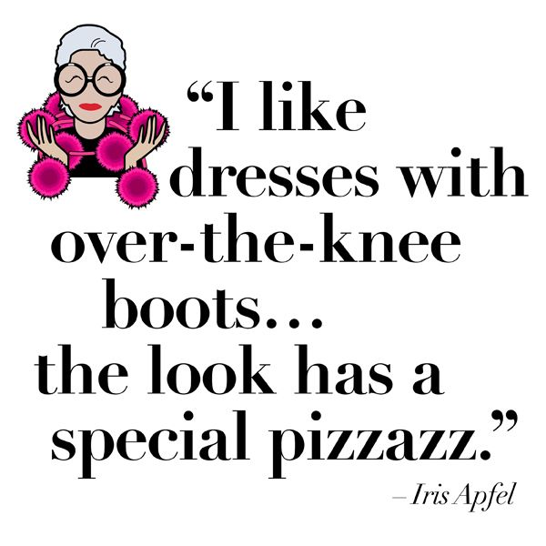 What does Iris like? Style guru Iris Apfel shares some insider tips on how to wear INC's modern mod looks. Thanks, Iris.