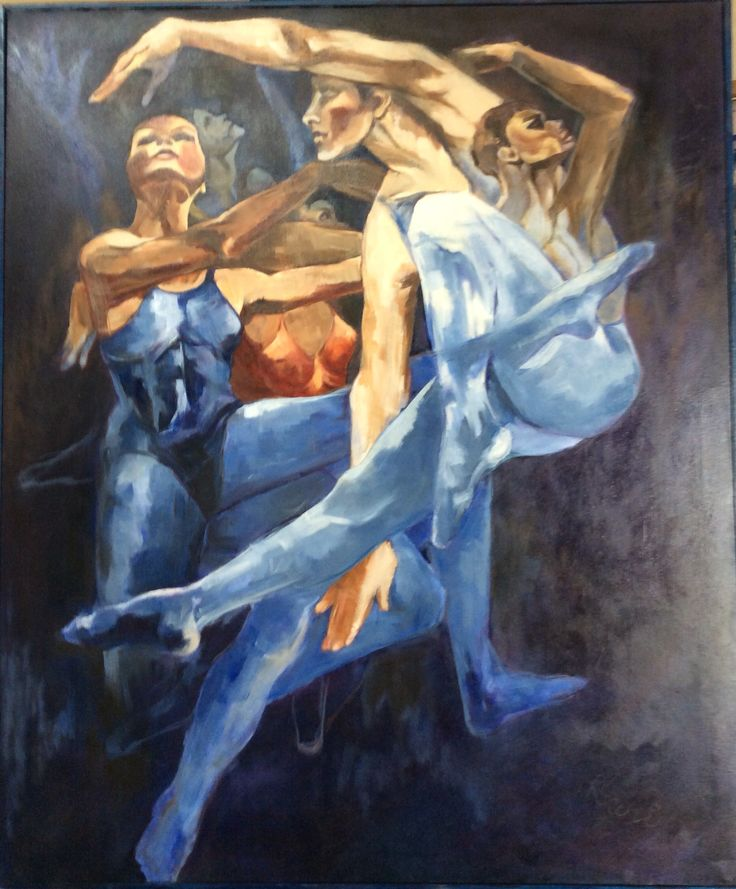 'Arabesque' oil on canvas