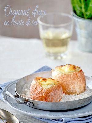 Oignons doux en croûte de sel & farcis au fromage de chèvre - Alter Gusto