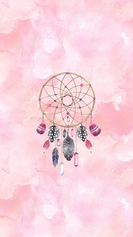 Atrapasueños, rosa, rosado                                                                                                                                                                                 Más