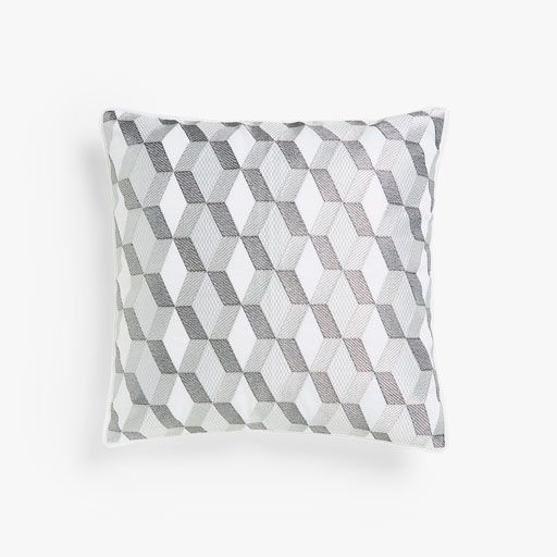 Image of the product Grey geometric print cushion cover