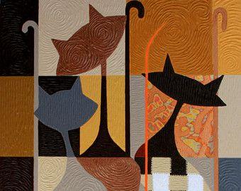 modern art cats - Google Search