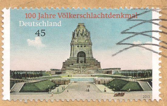 Briefmarke-Europa-Mitteleuropa-Deutschland-45-2013-Völkerschlachtdenkmal