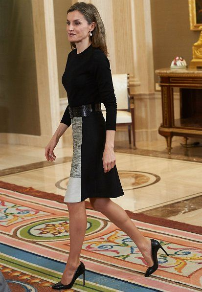 Queen Letizia and King Felipe meet Spanish Television representation. 18-11-2016