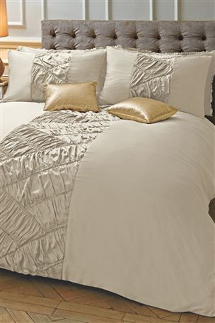 champagne ruffle bed set from the next uk products a. Black Bedroom Furniture Sets. Home Design Ideas