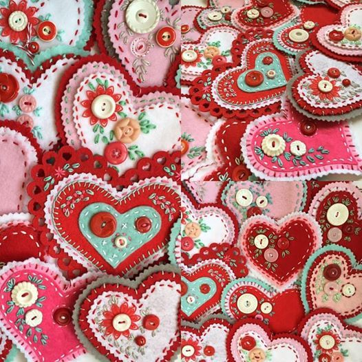 ?Boy oh boy! Sorry I've been missing for a bit but my fingers have been stitching like crazy. A while back I posted a few felt hearts that ...