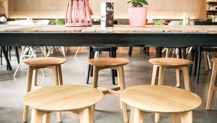Kunsthauscafe Graz with 1.3 STOOL by Kihyun Kim for ZEITRAUM
