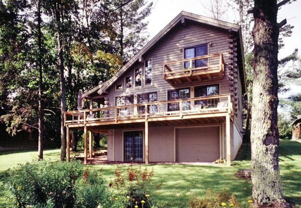 Saltbox Log Home With Wraparound Porch Real Log Homes
