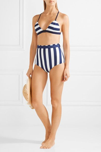 Fella - Gregy Belted Striped Bikini Briefs - Storm blue -