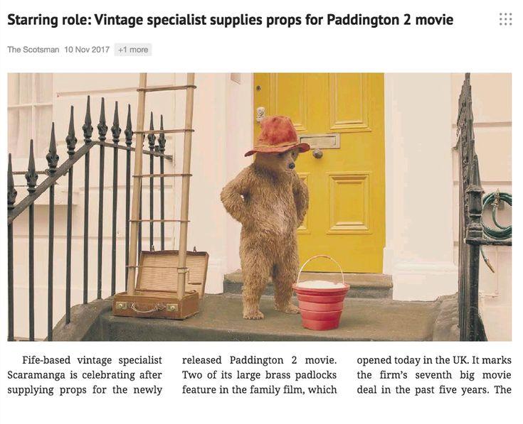 Scaramanga padlocks featured in Paddington 2. #vintagestyle #props #hollywoodprops