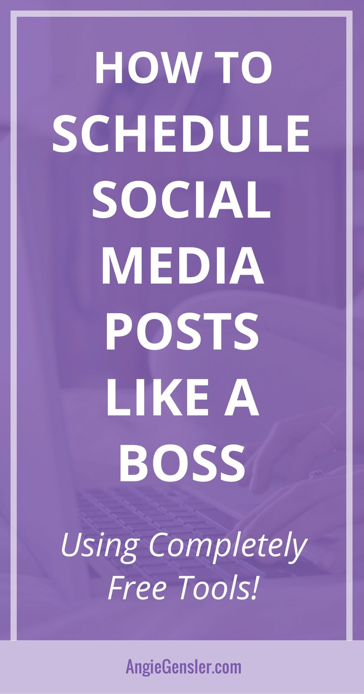Learn how to schedule social media posts using completely free tools. Includes four step-by-step video tutorials that show you how to schedule content without spending a dime! #socialmedia #socialmediatips #socialmediamarketing via @angiegensler