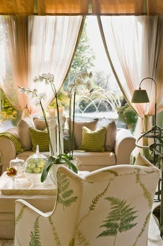 Beautiful Living Rooms and Offices | Eye For Design: Decorate With Fern Decor For Trendy Interiors