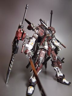 "MG 1/100 Gundam Astray Red Frame ""Shinobu"" Custom Build  by ks19870206    Great modification! I like the rusty color scheme of this Astray! ..."