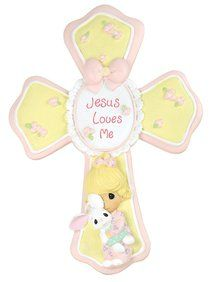 Precious Moments Cross: Girl, Jesus Loves Me