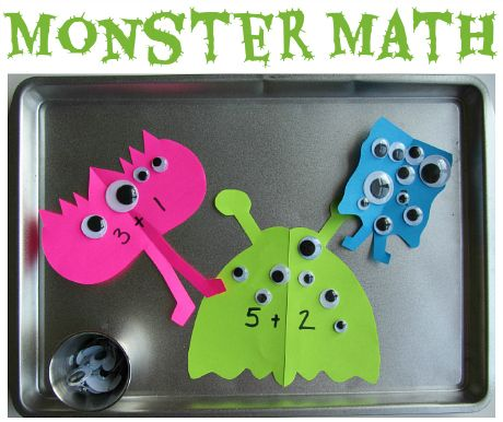 Monster Math Tray- Fine Motor- Bottle Glue- B.P.