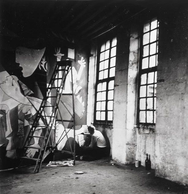 "An officer of the Wehrmacht in Picasso's studio during the occupation of Paris, in reference to a photo of Guernica:  ""Did you do this?""  Picasso: ""No, you did""."