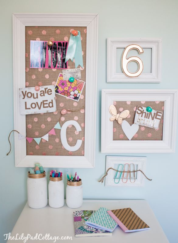 DARLING pin boards/desk (Lilypad Cottage)