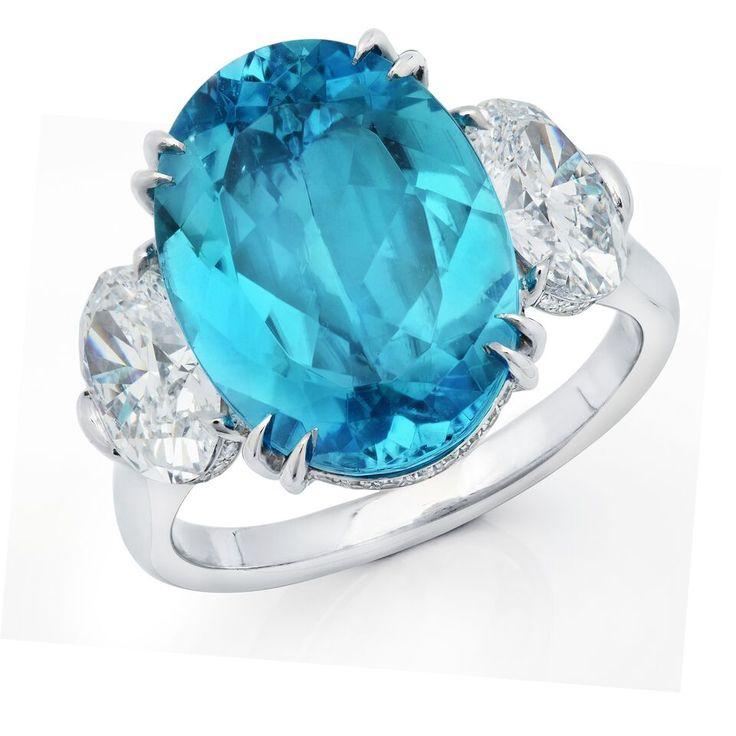 Diamonds paraiba tourmaline ring by MartinKatz…