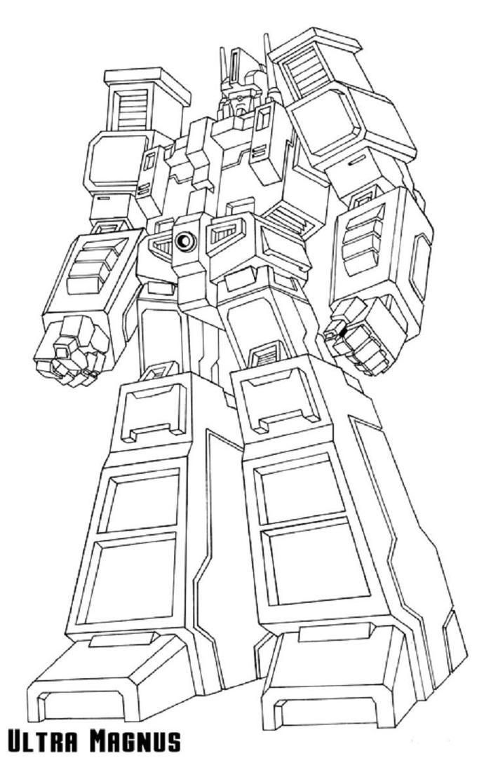 Transformers Coloring Pages Ultra Magnus Ultra Magnus Coloring