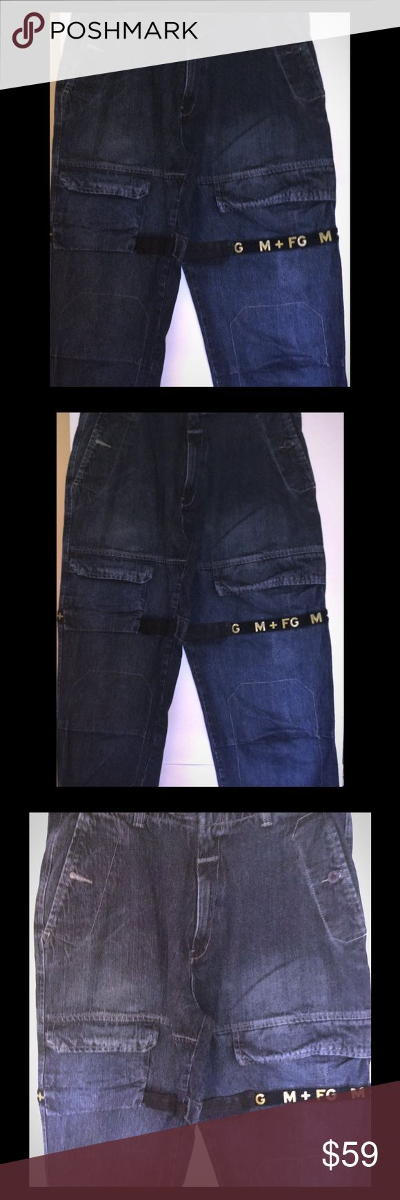 """Marithe Francois Girbaud Jeans Shuttle Tape 34 VTG Men's Marithe Francois Girbaud Jeans Loose/Baggy tag Size 38,Actual measurements: Waist 34 inches (34X32) 100%Cotton, 6 pockets Waist 17"""" across (approx. 34"""" around) Inseam 32 Rise13"""" Gently worn, small tear on hem See pictures. Coming from a free smoking environment! Stock 8#23 Marithe Francois Girbaud Jeans Relaxed"""
