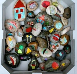 Story Stones. These are great for dramatic play, and language building!