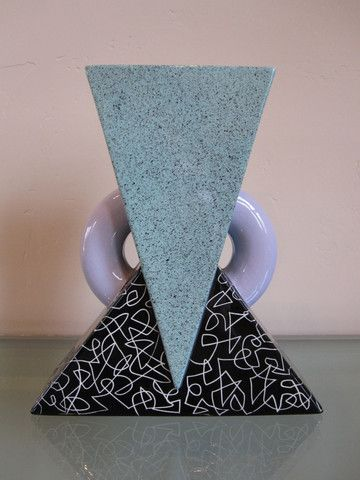 michael duvall - small post modern triangle vase