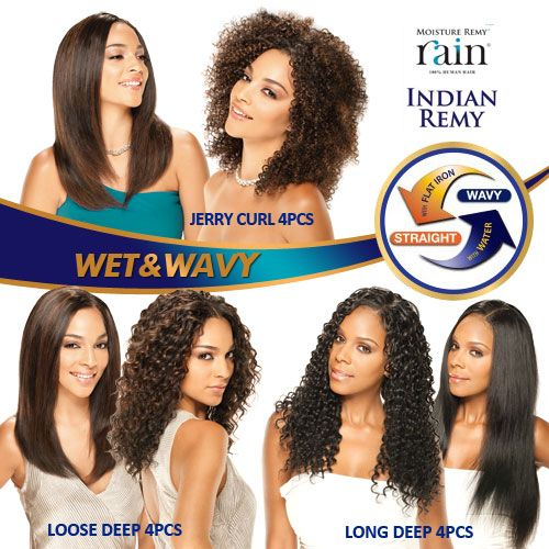 Milky Way Indian Remy Human Hair Weave Moisture Remy Rain