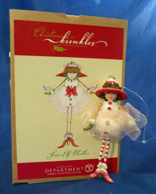 2002 Krinkles Patience Brewster Snow Elf Mother Christmas Ornament Dept 56 RARE | eBay