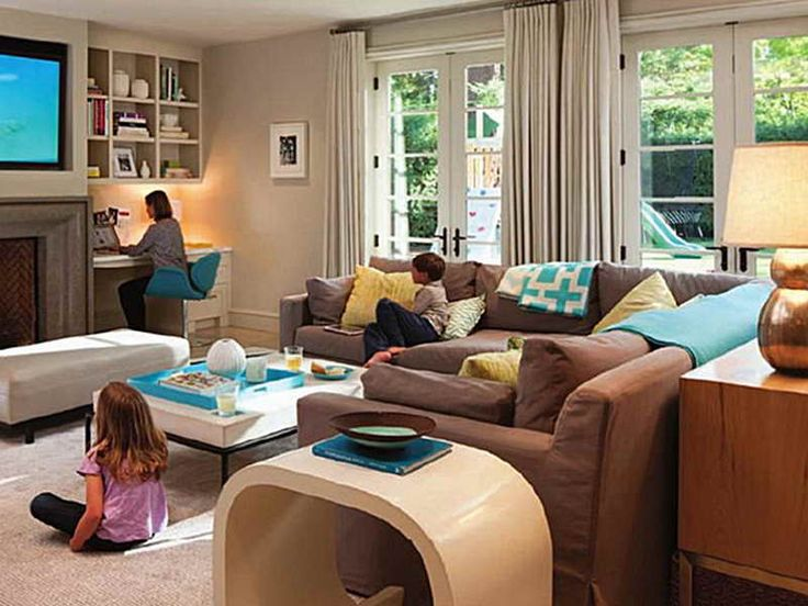 48 best family room images on pinterest family rooms for Kid friendly family room design