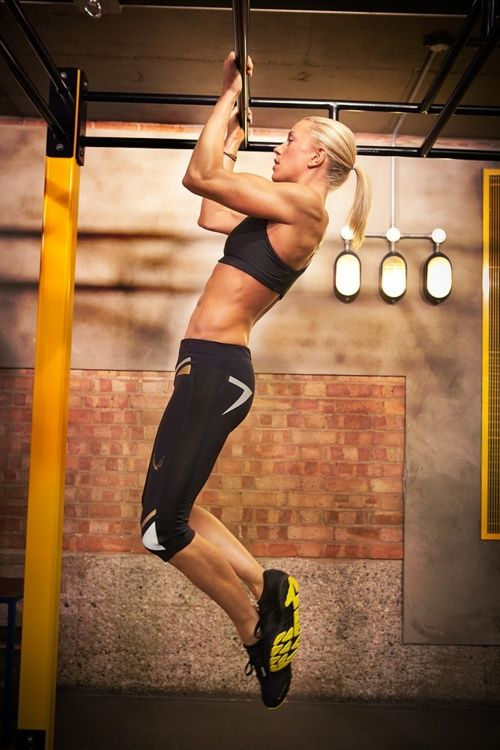 Pull-ups with your own body weight.