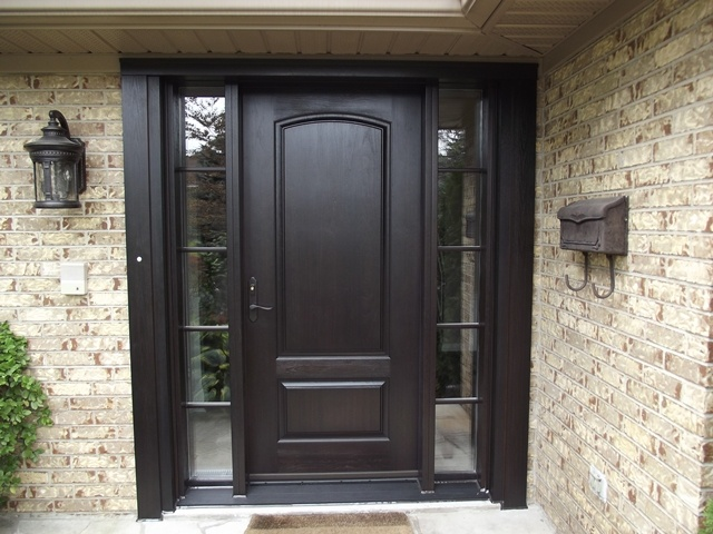 Front doors may 2015 - Chestnut brown exterior gloss paint ...