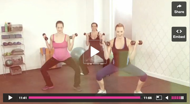 10-min Prenatal Workout Video by Heidi Klum's Personal Trainer