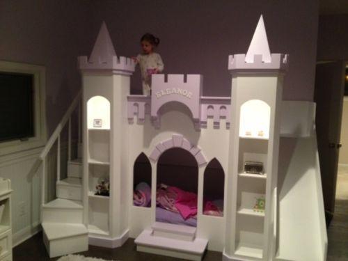 New Custom Princess Eleanor's Castle Loft Bunk Playhouse Bed | eBay