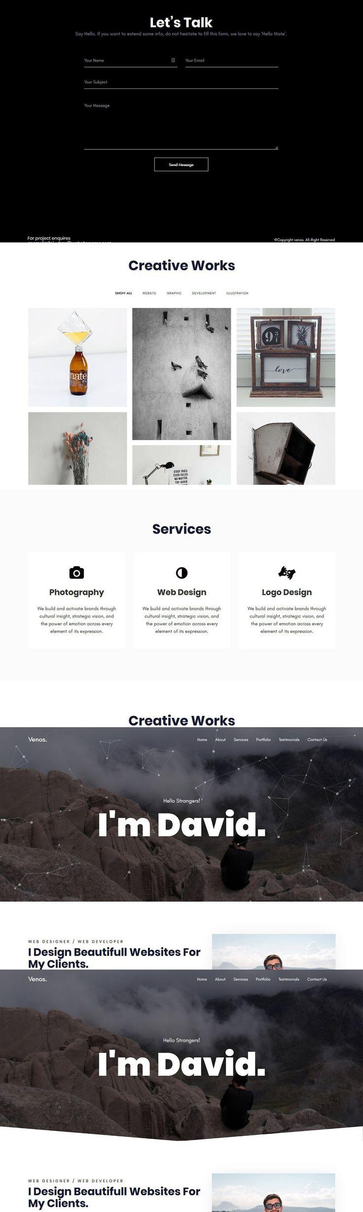 Venos Creative Portfolio Template Presentation design