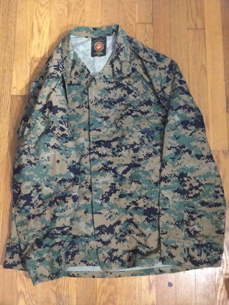 Propper International United States Marine Navy Camouflage Coat Jacket Med-Reg #PROPPER #Military