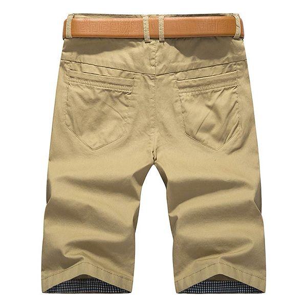 Été Pantalons décontractés pour hommes Pantalons Solid Color Muilt Poches Leisure Cotton Cargo Shorts
