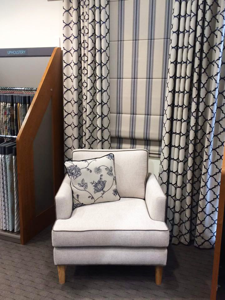 Warwick Fabrics, Adelaide showroom, September 2015. Featuring our Manali collection.