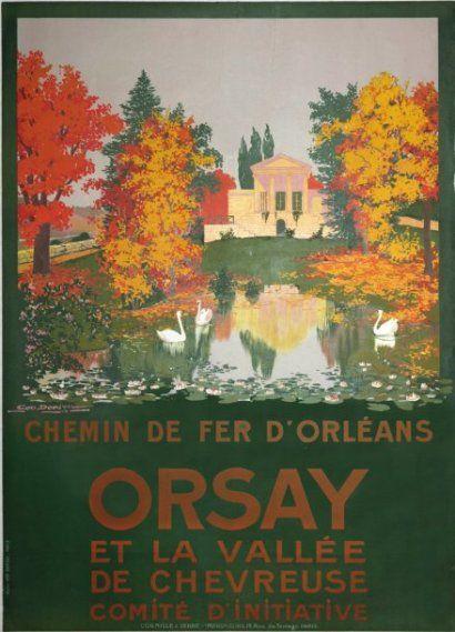 chemins de fer d'orléans - Orsay et la vallée de Chevreuse - illustration de Géo DORIVAL - 1913 - France -