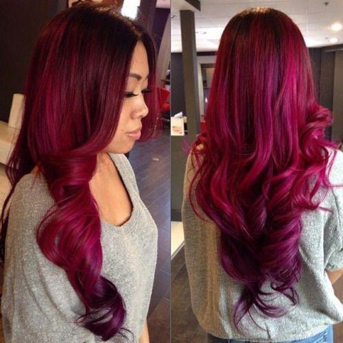 Magnificent 1000 Ideas About Magenta Hair On Pinterest Purple Hair Hair Short Hairstyles For Black Women Fulllsitofus