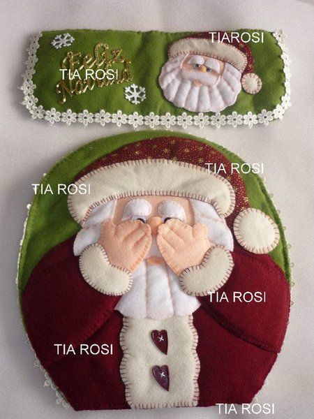 Christmas Santa bathroom set