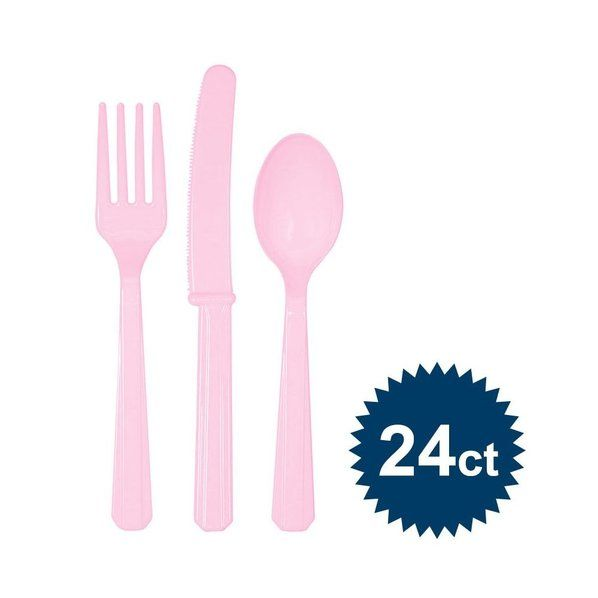 Check out Pink Cutlery Set - Cutlery Party Supplies from Birthday In A Box