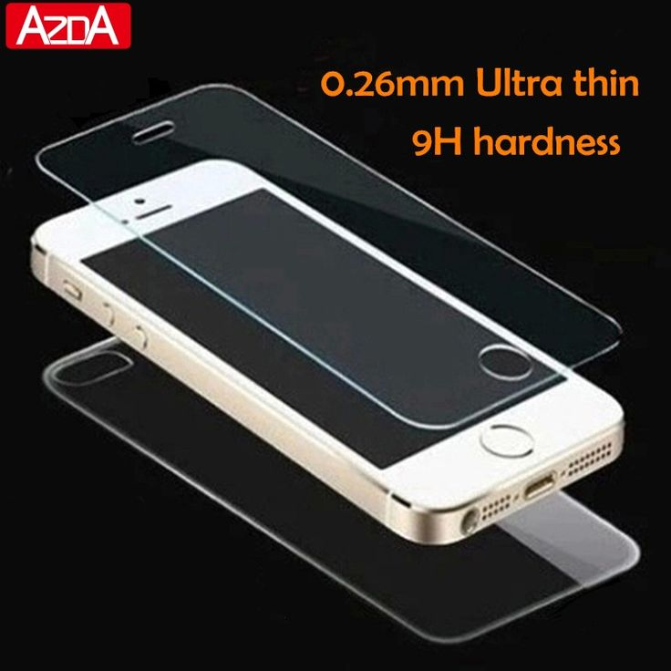 2 pcs/lot depan + kembali tempered kaca untuk iphone 5 5 s 6 6 s 7 ditambah 4 4 s film pelindung layar tubuh penuh kaca pada untuk iphone SE