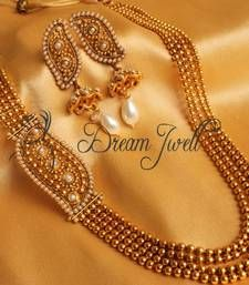 Buy GORGEOUS PEARL ONE SIDE MUGAPPU PEARL NECKLACE SET necklace-set online